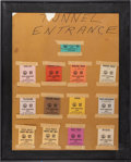 Football Collectibles:Tickets, 1967 Super Bowl I Media Pass Board Used by Gate Attendant at the Coliseum (13)....