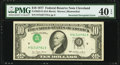 Inverted Third Printing Error Fr. 2023-D $10 1977 Federal Reserve Note. PMG Extremely Fine 40 EPQ