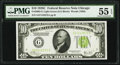 Fr. 2003-G $10 1928C Federal Reserve Note. PMG About Uncirculated 55 EPQ