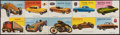 Non-Sport Cards:Sets, 1954 Topps World on Wheels Red Back Near Complete Set (169/170)....