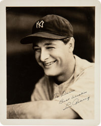 Late 1920's Lou Gehrig Signed Photograph by George Burke