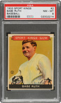 Baseball Cards:Singles (1930-1939), 1933 Sport Kings Babe Ruth #2 PSA NM-MT 8....