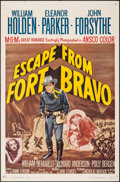 "Movie Posters:Western, Escape from Fort Bravo & Other Lot (MGM, R-1962). Folded, Fine/Very Fine. One Sheet (27"" X 41"") & Photos (10) (8"" X 10""). We... (Total: 11 Items)"