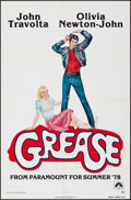 """Movie Posters:Musical, Grease (Paramount, 1978). Folded, Very Fine. One Sheet (27"""" X 41"""") Advance, Linda Fennimore Artwork. Musical.. ..."""