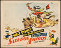 "Movie Posters:Animation, Saludos Amigos (RKO, 1942). Fine+. Title Lobby Card (11"" X 14""). Animation.. ..."