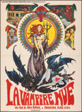 """Movie Posters:Horror, The Nude Vampire (Les Distributeurs Associes, 1970). Very Fine- on Linen. French Grande (45"""" X 62""""). Philippe Druiliet Artwo..."""