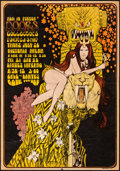"""Movie Posters:Rock and Roll, The Doors at the Victoria Arena (1967). Fine/Very Fine. Concert Window Card (14"""" X 20"""") Bob Masse Artwork. Rock and R..."""