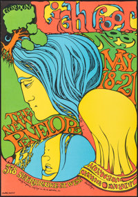 """Gordon Lightfoot at the New Penelope (United Artists, 1967). Very Fine/Near Mint. Concert Window Card (14"""" X 20&quo..."""