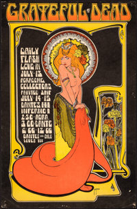 "The Grateful Dead at the Agradome and Dante's Inferno (1967). Very Fine-. Concert Window Card (13.75"" X 21"") B..."