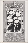 """Movie Posters:Rock and Roll, Hells Angels Annual Party at Longshoreman's Hall (1971). Very Fine/Near Mint. Signed 2nd Printing Concert Window Card (13"""" X..."""