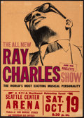 Movie Posters:Musical, Ray Charles and His Raeletts at the Seattle Center Arena (KVI & Northwest Releasing, 1966). Fine+. Concert Window Car...