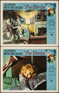 "Movie Posters:Hitchcock, The Birds (Universal, 1963). Very Fine-. Lobby Cards (2) (11"" X 14""). Hitchcock.. ... (Total: 2 Items)"