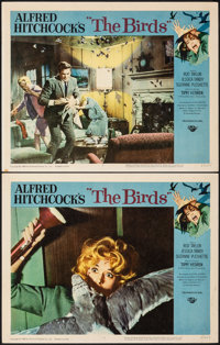 """The Birds (Universal, 1963). Very Fine-. Lobby Cards (2) (11"""" X 14""""). Hitchcock. ... (Total: 2 Items)"""
