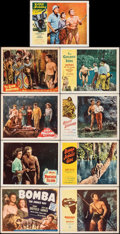 """Movie Posters:Adventure, Bomba, the Jungle Boy & Other Lot (Monogram, 1949). Overall: Very Fine-. Title Lobby Card & Lobby Cards (8) (11"""" X 14""""). Adv... (Total: 9 Items)"""