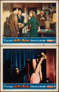 "Movie Posters:Hitchcock, Dial M for Murder (Warner Bros., 1954). Fine+. Lobby Cards (2) (11"" X 14""). Hitchcock.. ... (Total: 2 Items)"