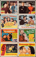 """Movie Posters:Drama, A Place in the Sun & Other Lot (Paramount, 1951). Overall: Fine/Very Fine. Lobby Cards (6) & Title Lobby Cards (2) (11"""" X 14... (Total: 8 Items)"""