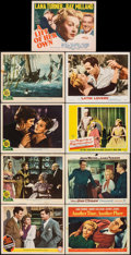 "Movie Posters:Drama, Somewhere I'll Find You & Other Lot (MGM, 1942). Overall: Fine+. Lobby Cards (8) & Title Lobby Card (11"" X 14""). Drama.. ... (Total: 9 Items)"