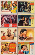 "Movie Posters:Adventure, A Thousand and One Nights & Other Lot (Columbia, 1945). Fine/Very Fine. Title Lobby Card & Lobby Cards (7) (11"" X 14""). Adve... (Total: 8 Items)"
