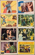 "Movie Posters:Swashbuckler, The Three Musketeers & Other Lot (MGM, 1948). Fine+. Lobby Cards (7) & Title Lobby Card (11"" X 14""). Swashbuckler.. ... (Total: 8 Items)"