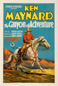 """The Canyon of Adventure (First National, 1928). Fine on Linen. One Sheet (27"""" X 41""""). Style A"""