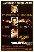 """Movie Posters:James Bond, Goldfinger (United Artists, 1964). Very Fine- on Linen. One Sheet (27"""" X 41.5"""") Glossy Style.. ..."""