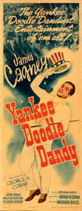 "Movie Posters:Musical, Yankee Doodle Dandy (Warner Bros., 1942). Rolled, Fine+. Linen Finish Insert (14"" X 36"").. ..."