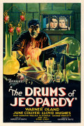 """Movie Posters:Horror, The Drums of Jeopardy (Tiffany, 1931). Fine+ on Linen. One Sheet (27.5"""" X 41"""").. ..."""