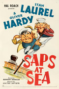 Movie Posters:Comedy, Saps at Sea (United Artists, 1940). Fine- on Linen.