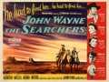 Movie Posters:Western, The Searchers (Warner Bros., 1956). Fine on Linen....