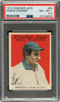 Baseball Cards:Singles (Pre-1930), 1915 Cracker Jack Honus Wagner #68 PSA NM-MT+ 8.5....