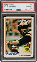 Baseball Cards:Singles (1970-Now), 1978 Topps Eddie Murray Rookie #36 PSA Gem Mint 10....