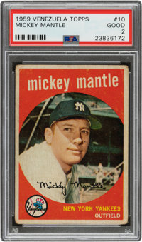 1959 Venezuela Topps Mickey Mantle #10 PSA Good 2