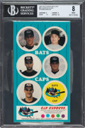 Baseball Cards:Singles (1970-Now), 1995 Caps Express Bats Caps - Derek Jeter BGS NM-MT 8 - The Only Graded Example in Existence....