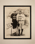 Baseball Collectibles:Photos, 1927 Babe Ruth & Lou Gehrig Dual-Signed Barnstorming Photograph....