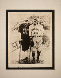 1927 Babe Ruth & Lou Gehrig Dual-Signed Barnstorming Photograph