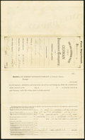 Miscellaneous:Other, German Insurance Company Five Items Including Policy, Policy Envelope, Daily Report, Letterhead, Loss Form 1890-97;. Monmo... (Total: 6 items)