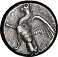 Ancients: THRACE. Abdera. Ca. 415-385 BC. AR stater (21mm, 12.54 gm, 2h). NGC VF 5/5 - 2/5