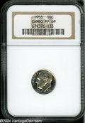 Proof Roosevelt Dimes: , 1958 10C PR 69 Cameo NGC. ...