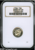 Proof Roosevelt Dimes: , 1964 10C PR 68 Cameo NGC. ...