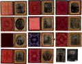 Photography:Tintypes, Western Tintypes: Group Of Eleven Armed Cased Images....