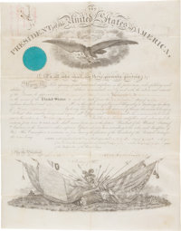 Abraham Lincoln: Signed Commission and Related Documents