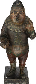 Advertising:Tobacciana, Rare Punch Cigar Store Advertising Figure Cast in Zinc, Circa 1885. ...