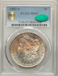 Morgan Dollars, 1882-S $1 MS67 PCGS. CAC. PCGS Population: (1085/72 and 170/11+). NGC Census: (1764/124 and 78/6+). MS67. Mintage 9,250,000...