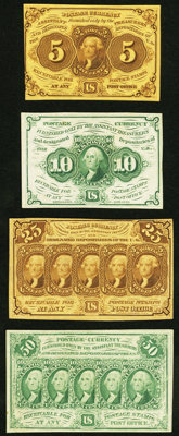 Fr. 1230 5¢ First Issue Extremely Fine-About New; Fr. 1242 10¢ First Issue Extremely Fine-About New; Fr. 1281...