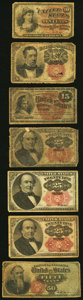 Fractional Currency:Fifth Issue, Seven Well Circulated Fractional Notes Totaling $1.60 in Face Value. Good or Better.. ... (Total: 7 notes)
