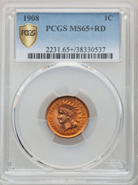 1908 1C MS65+ Red PCGS. PCGS Population: (263/101 and 10/20+). NGC Census: (143/37 and 3/3+). CDN: $410 Whsle. Bid for N...