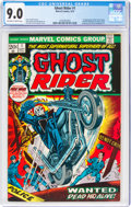 Bronze Age (1970-1979):Superhero, Ghost Rider #1 (Marvel, 1973) CGC VF/NM 9.0 Off-white to white pages....