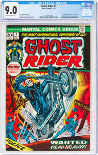 Ghost Rider #1 (Marvel, 1973) CGC VF/NM 9.0 Off-white to white pages