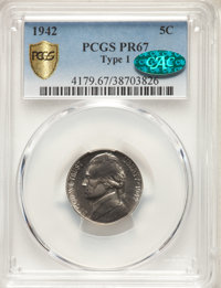 1942 5C Type One PR67 PCGS. CAC. PCGS Population: (492/22 and 45/0+). NGC Census: (336/12 and 7/0+). CDN: $120 Whsle. Bi...