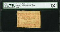 Schenectady, (NY)- Reformed Dutch Church at Schenectady Sept. 6, 1790 1 Penny Newman Page 308 Harris H7 PMG Fine 12 Net...